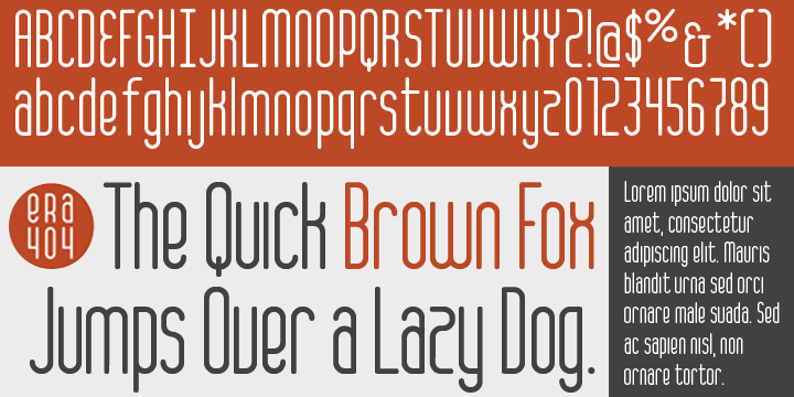 ERA404 Regular Typeface