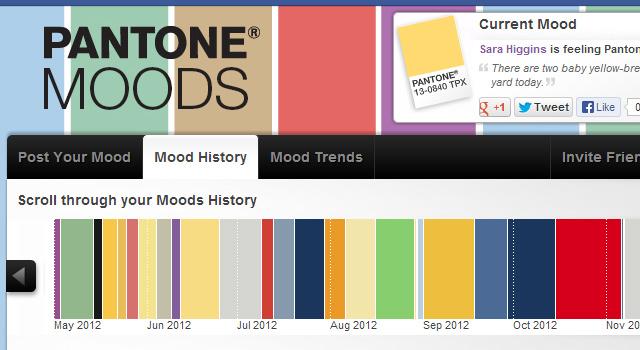 Pantone Moods - Mood History