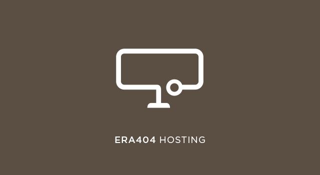ERA404 Hosting Packages 2020