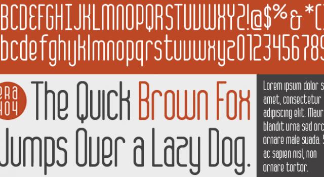 ERA404 Regular – Typeface