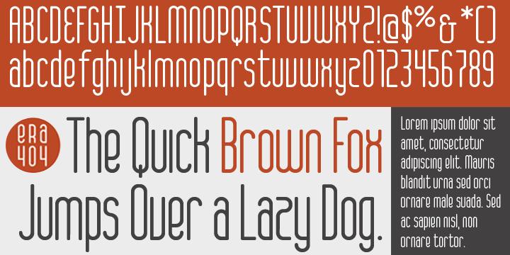 ERA404 Regular Typeface