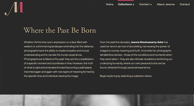 Jeanne Moutoussamy Ashe - Collections Landing Page