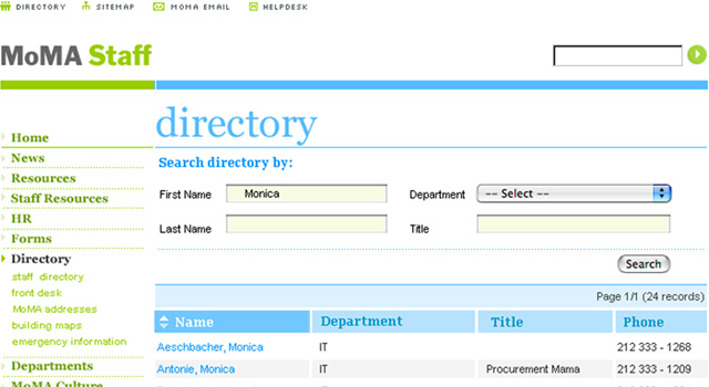 MoMA Staff - Directory