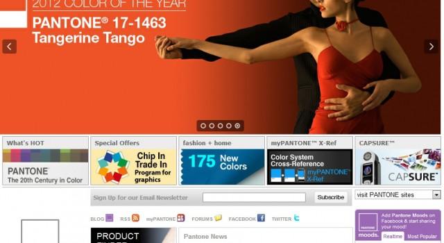 Pantone Moods Widget on Pantone.com