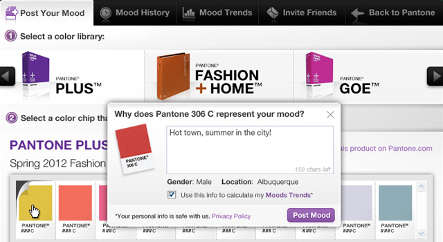 Pantone Moods