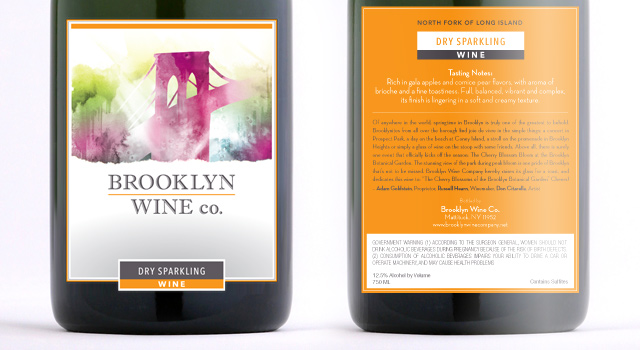 Brooklyn Wine Company - Sparkling White Wine Label