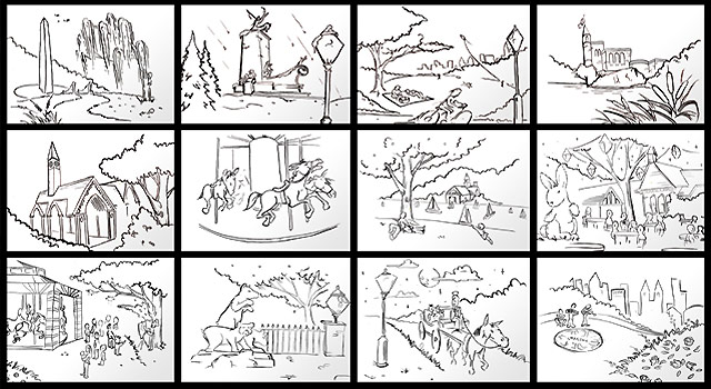 Target Benchmarks Central Park - Illustrations